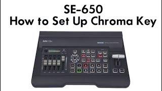Datavideo Tutorials: SE-650 Switcher   Learn How to Set Up Chroma Key
