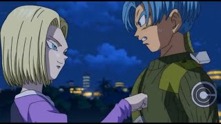 future trunks meets android 18   dragon ball super   episode 53   english sub   hd