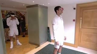 Djokovic & Federer out on Centre Court - Wimbledon 2014