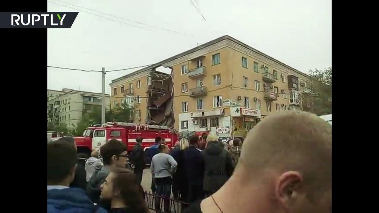 Взрыв бытового газа, обрушение дома в Советском районе Волгограда .
