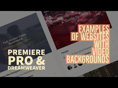 3/15   Cool examples of websites with video backgrounds