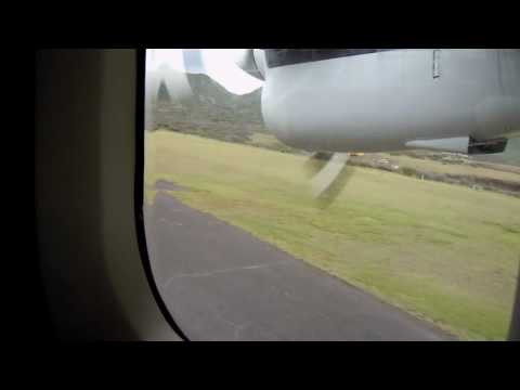Landing at St. Eustatius Airport.MOV
