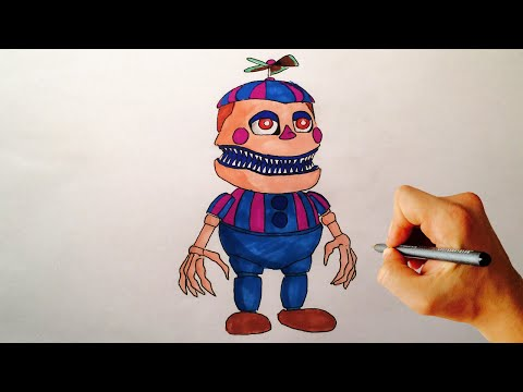 How To Draw Nightmare JJ From FNAF 4 Halloween Edition Drawing Tutorial