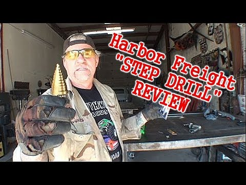 "How To Use A ""STEP DRILL"" - Harbor Freight Review - Good Or Bad?"