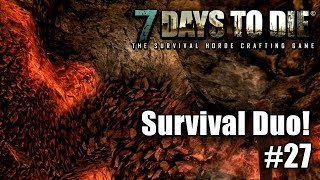 Let's Play 7 Days to Die #27 - Survival Duo ☠ - Tiefbauarbeiten! - Gameplay - Deutsch thumbnail