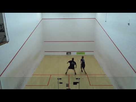 Masters squash MO40 Final Ashley Bowling OFE v Ian Cox NOR