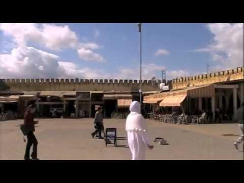 The Place Hedim and Medina Souk Finished Up Meknes, Morocco