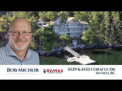 Sechelt Inlet waterfront homes for sale: 6129 & 6133 Coracle Drive - Realtor Bob Michor