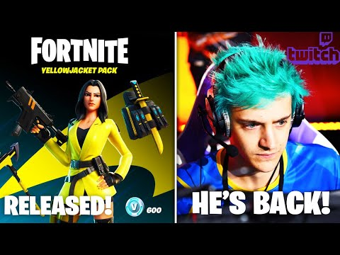 Ninja RETURNS To Twitch, Starter Pack RELEASED, & More Leaked Cosmetics!