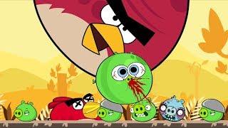 ANGRY BIRDS BANG BANG BANG!! Squash Jumping on Bad Piggies