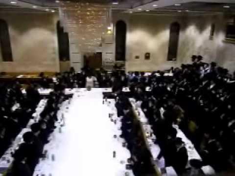 Munkatcher Rebbe at his Shushan Purim Tish 2011 Part 1