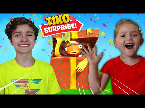 SURPRISING My 5 YEAR OLD SISTER With FAVORITE YOUTUBER Tiko! *Fishy On Me*
