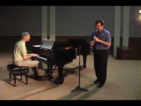 John Walker and Christopher Hill playing Rose Etude No. 1. Piano accompaniment composed by John Walker (Carl Fischer publ.)