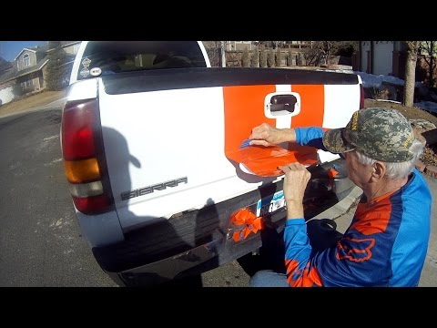 Putting KTM  Orange Racing Stripes On My 2000 GMC  KTM Hauler