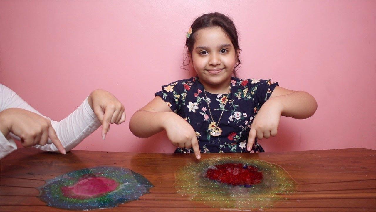 تحدي السلايم بدون وعاء أو ملعقة No Bowl No Spoon Slime Challenge Youtube