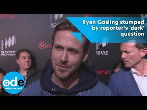 Ryan Gosling stumped by reporter's 'dark' question