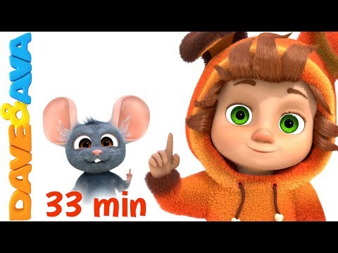 👍 Kids Songs 33 min  Nursery Rhymes Collection for Toddlers from Dave and Ava 👍