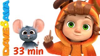 👍 Kids Songs 33 min | Nursery Rhymes Collection for Toddlers from Dave and Ava 👍
