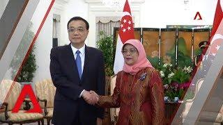 Chinese Premier Li Keqiang calls on President Halimah Yacob