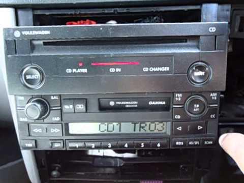 VW VOLKSWAGEN CD PLAYER & GAMMA DECK GOLF PASSAT BORA POLO. WORKING ORDER - YouTube