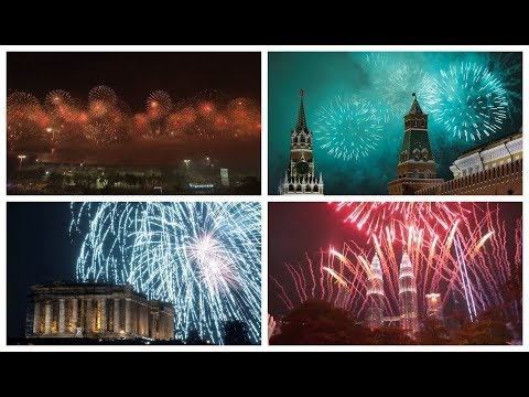 Welcome to 2019! New Year fireworks light up the world