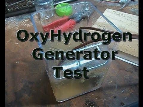Oxy-Hydrogen Generator Test Running 24v