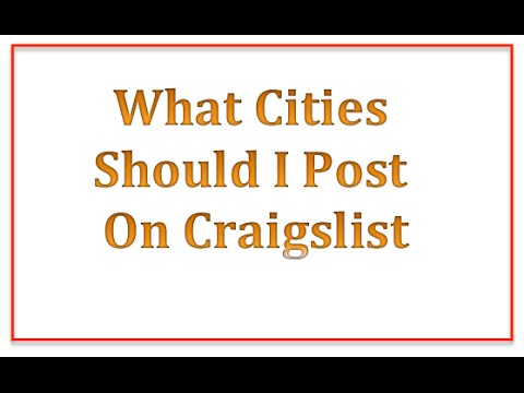 Which Cities Should I Post On Craigslist