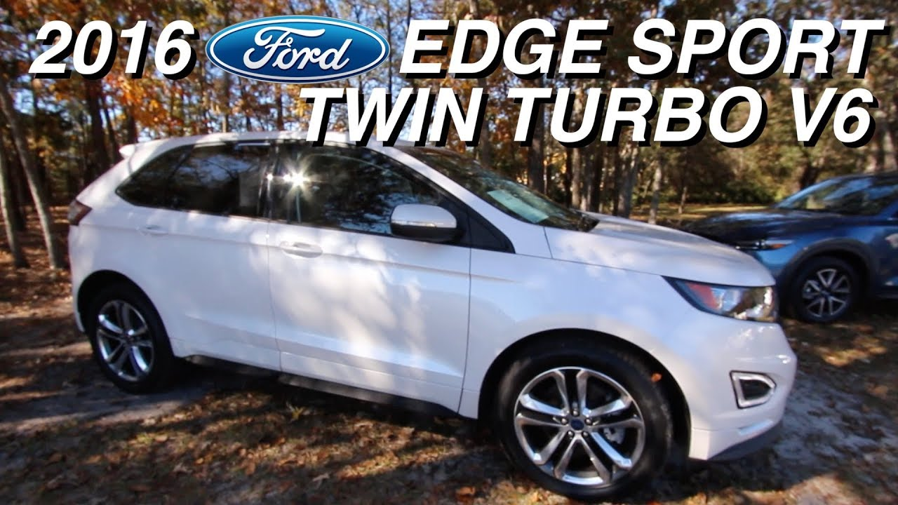 Heres a tour of the 2016 ford edge sport awd twin turbo v6 35880 for sale review