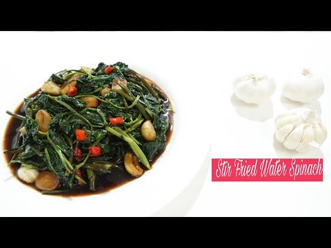 Stir Fried Water Spinach (Kangkong)