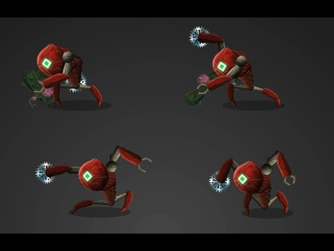 Robot wars saw.  Flash animation.  Robot animation movie.   robotics