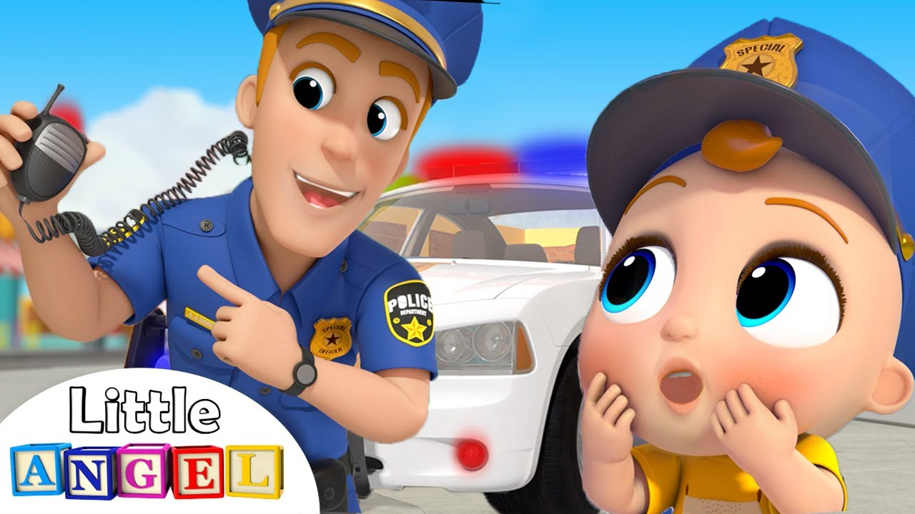 Policeman Keeps Us Safe   Safety Tips   Little Angel Nursery Rhymes and Kids Songs