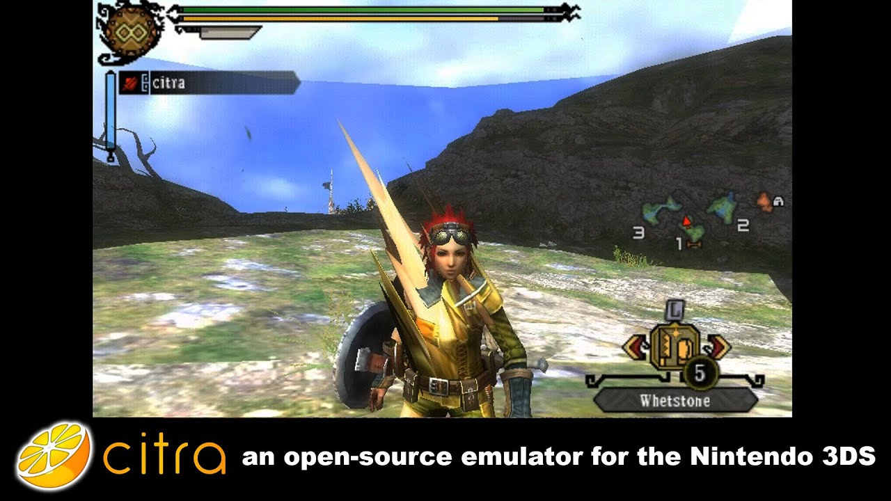 Citra 3DS Emulator - Monster Hunter 3 Ingame! scaled resolution + audio