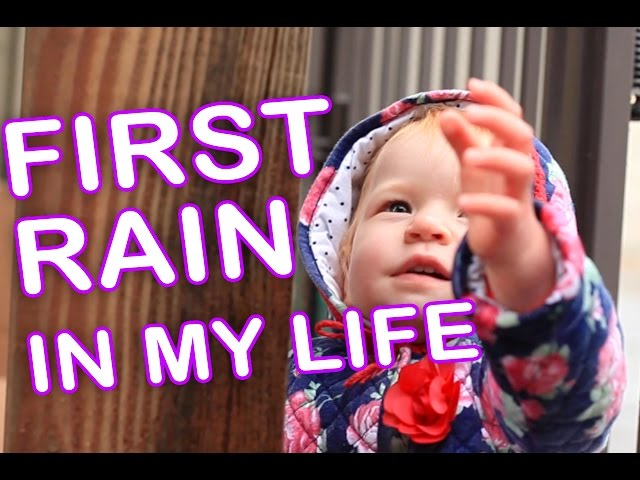 Cute baby TWINS are Exploring Rain for First Time