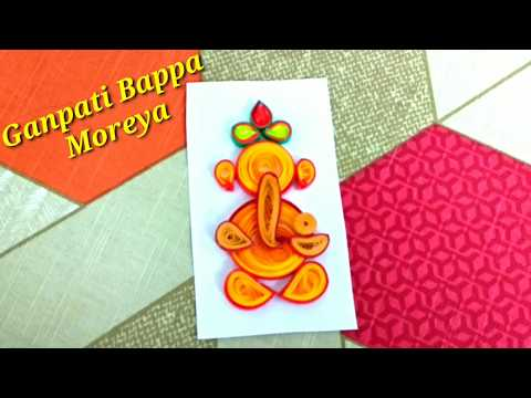 How to make Quilling Ganesha | Easy paper quilling Ganesh | DIY Ganpati Bappa craft