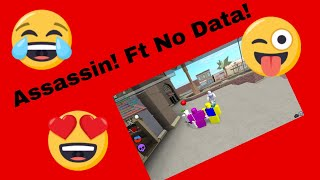 Playing with the best assassin in roblox! Ft NO_DATA
