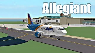 ROBLOX - France Vol Allegiant Air A320 (fr) atterrissage
