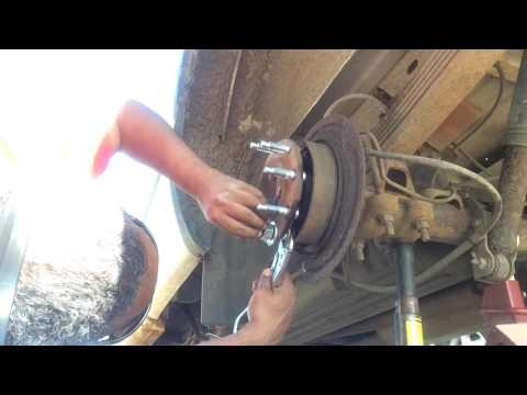 Wheel stud install on 2001 GMC CHEV Sierra Silverado 2500 8 bolt rear wheel DIY tools and tips