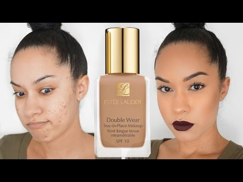 Estee Lauder Double Wear Foundation Review + Demo