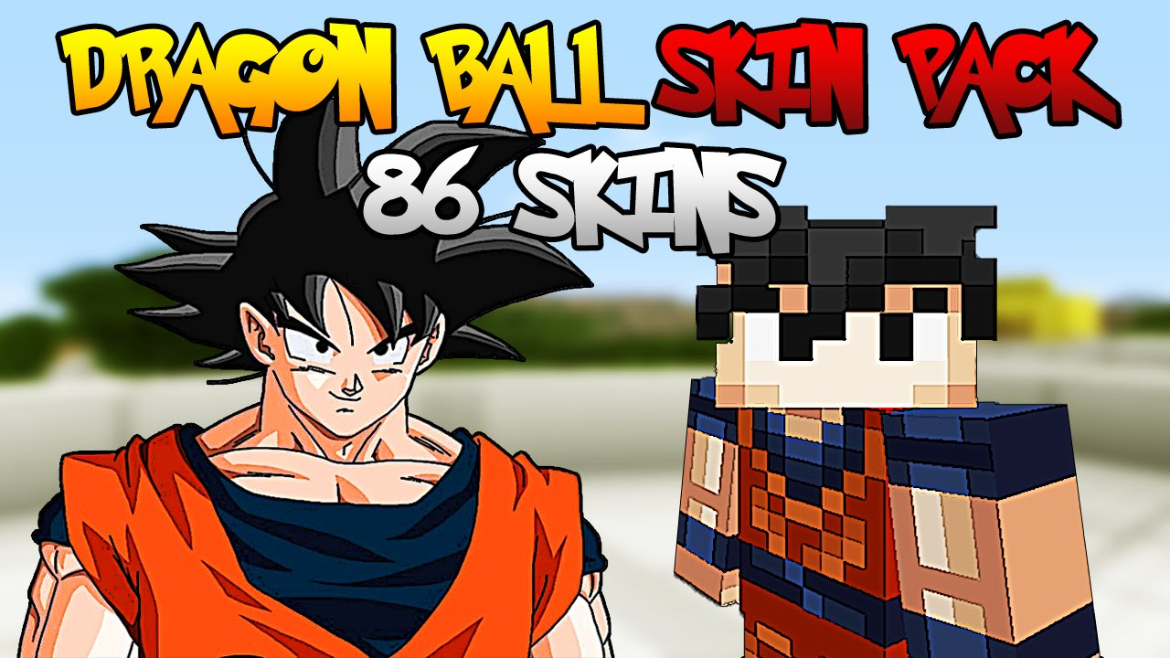 Dragon Ball Skin Pack Minecraft XBOX SKINS PC YouTube - Skins para minecraft pe trunks