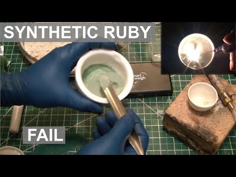 Synthesis of Ruby Attempt & Limelight with HHO Torch - ElementalMaker
