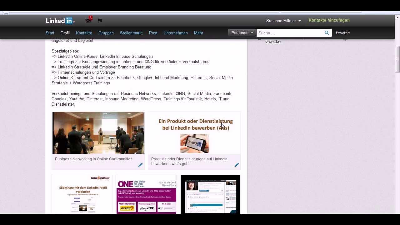 Linkedin Training Ihre Zusammenfassung Im Linkedin Profil Youtube