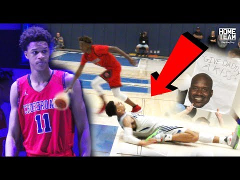 Shareef O'Neal Returns To Former High School! CRAZY Ankle Breaker By DJ Houston & Shareef