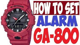 Як встановити будильник на G-Shock модель GA-800 керівництво 5535