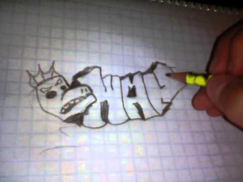 como hacer graffiti a lápiz youtube