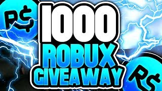 (LIVE) ROBLOX - Robux Giveaway [ road to 2500 subs ]