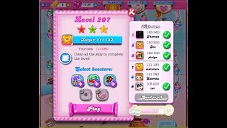 CANDY CRUSH SAGA LEVEL 207 🍬🍭