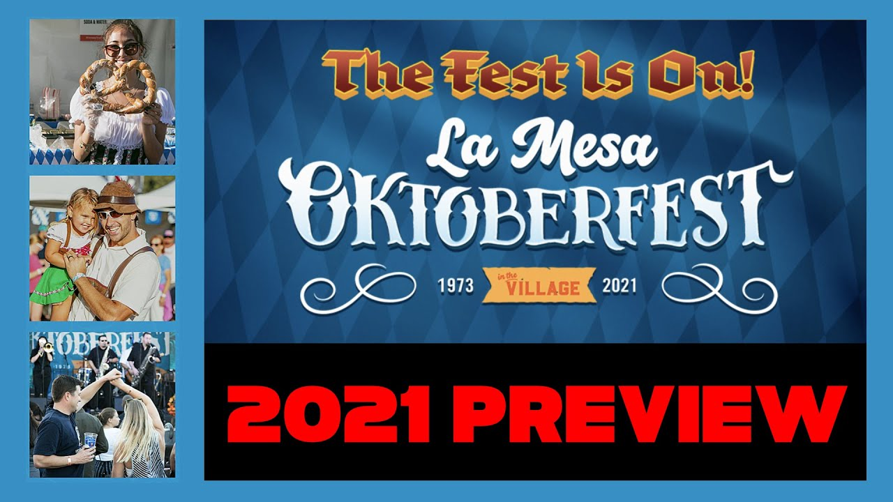 La Mesa Oktoberfest - This Time Not Virtual But The Real Experience!