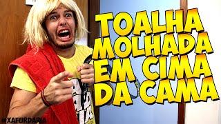 TOALHA MOLHADA EM CIMA DA CAMA