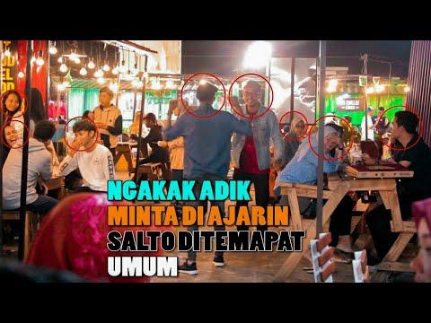 NGAKAK  KAKAK PAMER SALTO KE ADIK -PRANK INDONESIA