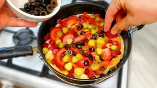 ПИЦЦА на сковороде за 5 минут Рецепт БЫСТРОЙ ПИЦЦЫ без выпечки Быстро и вкусно